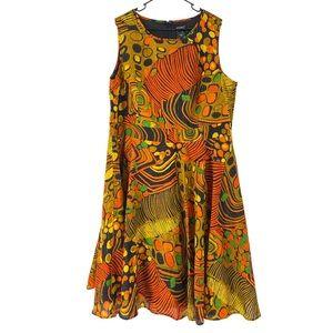 Ashro Emelie Brown Afrocentric Midi Dress 20W
